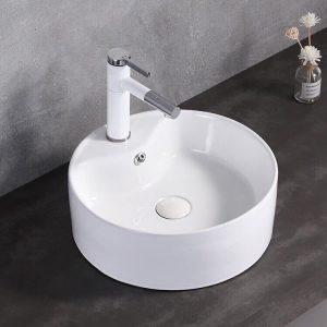Lavabo rửa mặt đặt bàn tròn H01