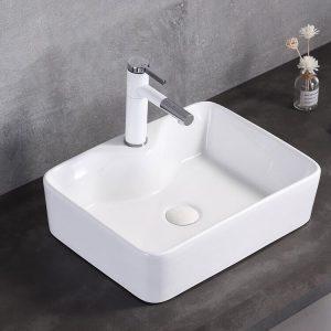 Lavabo rửa mặt đặt bàn vuông H02